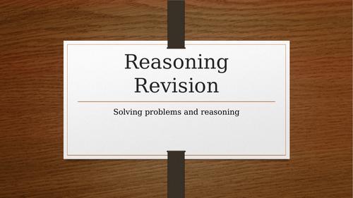 Maths Reasoning Starter on Powerpoint