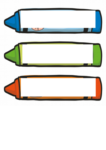 Crayon Drawer and Peg Labels