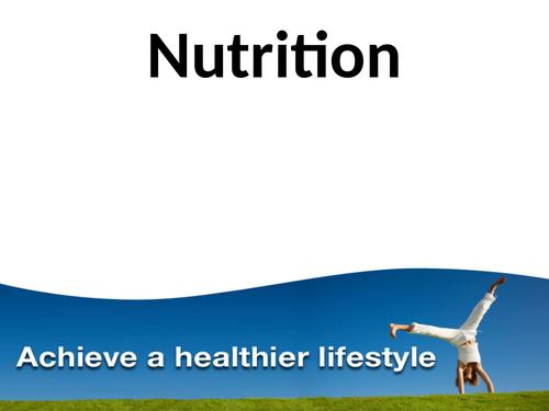 L3 BTEC Sport Unit 12: Sports Nutrition