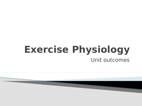 L3 BTEC Sports Science Unit 1: Exercise Physiology