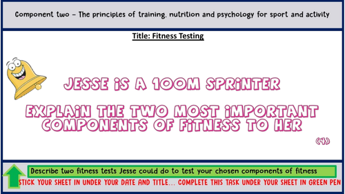 Lesson 5 - Fitness Testing