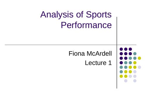 L3 BTEC Sport Unit 19: Sports Analysis