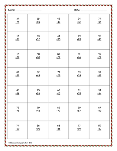 Free Addition Worksheet