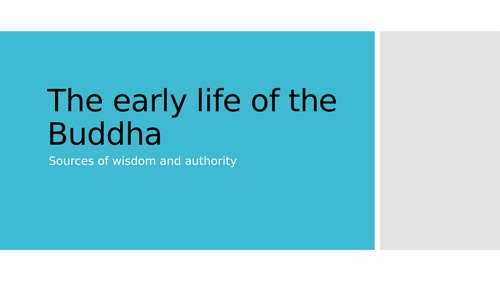 Early Life of the Buddha