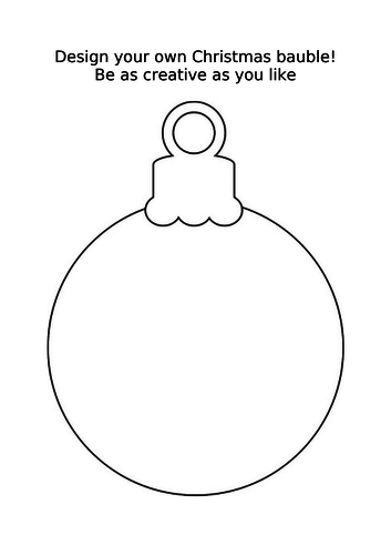 Christmas bauble to colour