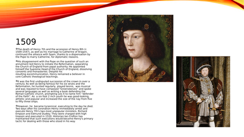 Basic Powerpoint on Henry 7th