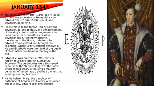 Powerpoint on thev reigns of Henry 6th and Mary1st