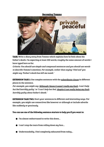 Assessment Task for Private Peaceful