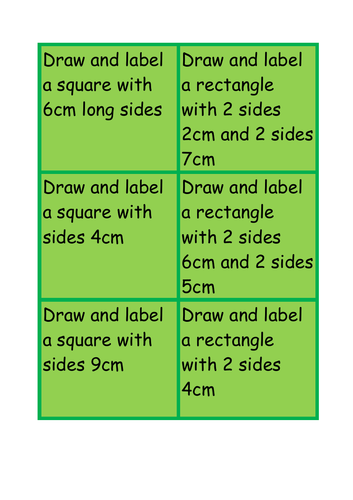 Drawing shapes instructions