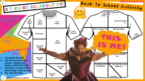 @AllRoundRes BACK TO SCHOOL ACTIVITY! 'All About Me T-Shirt!