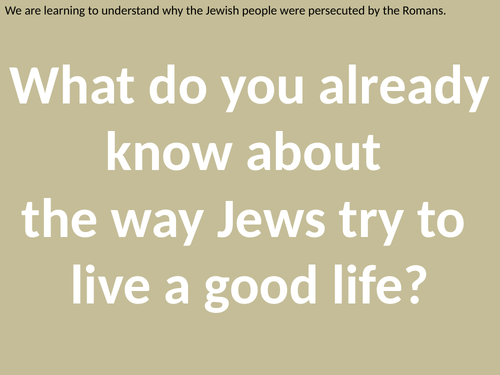 Roman Persecution of the Jews for KS2