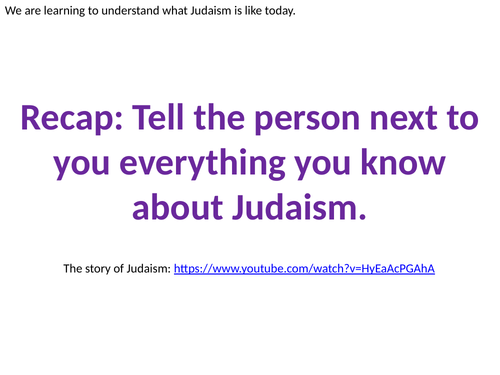 Judaism Today for KS2