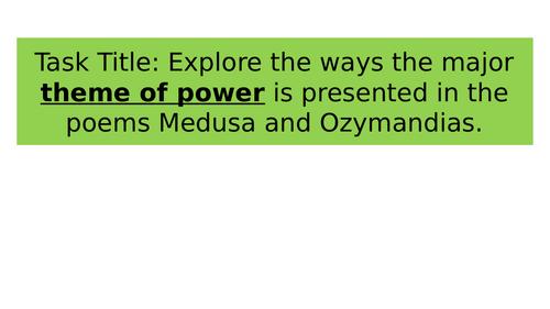 Poetry - Ozymandias and Medusa