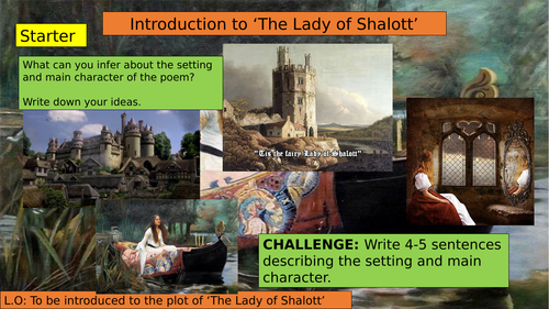 KS3 (7/8/9) Introduction of the Lady of Shalott