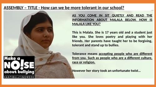 Tolerance - Islam - Anti-bullying PPT