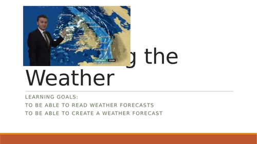 Presenting the weather