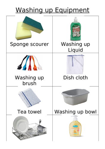 Washing up Activity for year 7