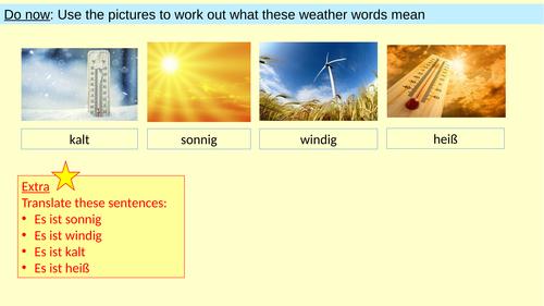 Weather / Das Wetter