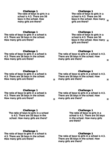 Wordy, multi-step ratio problems for Year 5/6