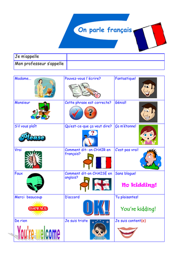 Target Language in French
