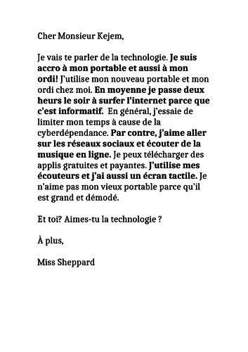 AQA French Unit 2 Technology full lesson