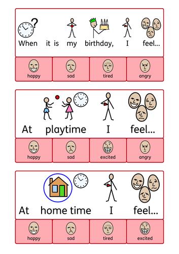 Feeling peg cards - emotional literacy.  Autism / SEMH /SEN