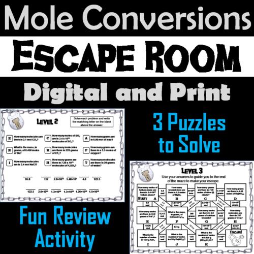 Mole Conversions Escape Room