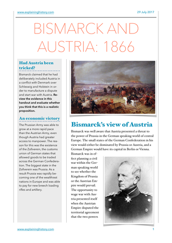 Bismarck and Austria 1866