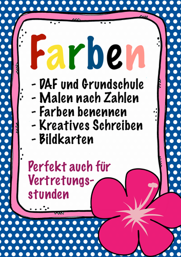 FARBEN - Deutsch / German reading, writing and identifying colours, Malen, drawing, kids beginner