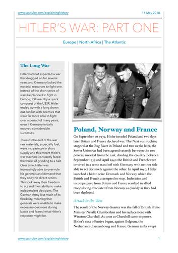 Hitler's War Part One
