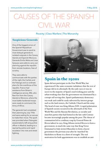 Causes of the Spanish Civil War
