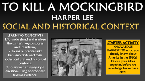 To Kill a Mockingbird - Social and Historical Context!