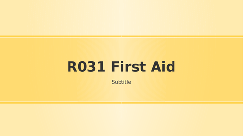 OCR Cambribge natonals R031 first aid