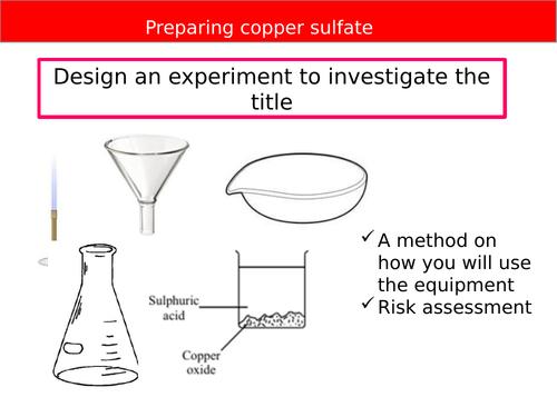 New GCSE - Chemistry practical planning