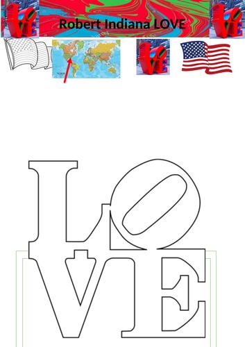 Famous Sculpture LOVE worksheets