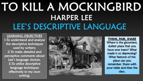 To Kill a Mockingbird - Lee's Descriptive Language!