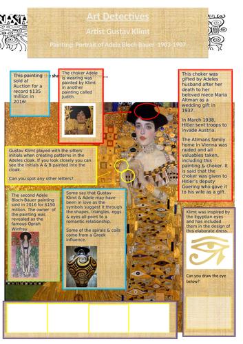 Home Learning Gustav Klimt Art Detective 'Woman in Gold'