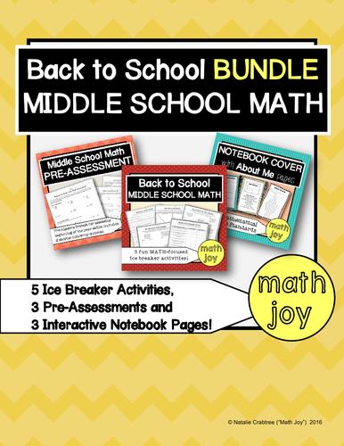 Back to Middle School Math BUNDLE