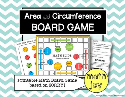 Area & Circumference Board Game