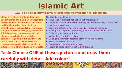 Islamic art Activity Task