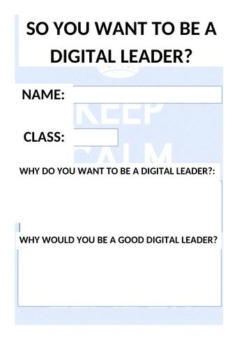 Digital Leaders Resource Pack - Computing