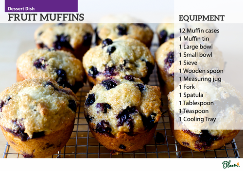 Food Technology Fruit Muffins Recipe Card