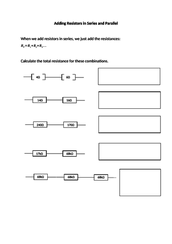 Adding Resistors in Series and Parallel
