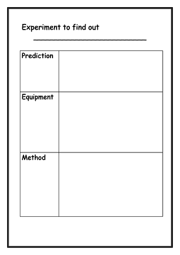 Differentiated experiment write up format