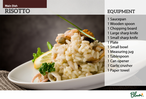 Food Technology Risotto Recipe Card