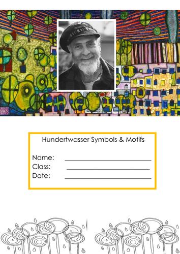 Art Home Learning Hundertwasser Symbols exploration worksheets & activity.