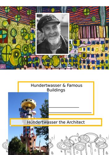 Art Home Learning Hundertwasser Buildings Worksheets