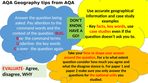 Paper 2 Human 1-9 AQA Geography revision booster