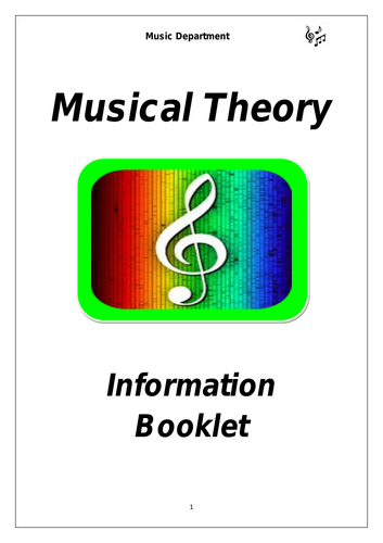 KS3 Musical Theory Cover Booklet