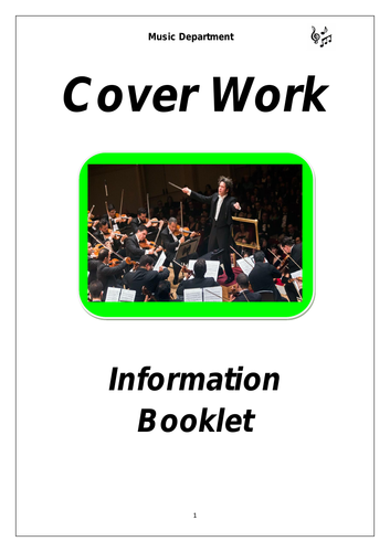 KS3 Music Cover Booklet